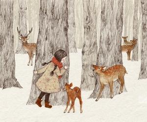 deer and girl image