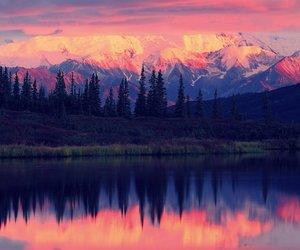 lake, alaska, and sky image
