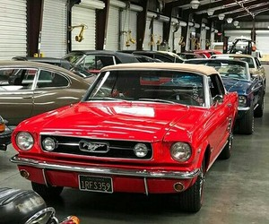 car, classic, and mustang image