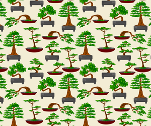 background, bonsai, and pattern image