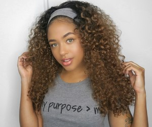 curls, beautiful+, and blkw image