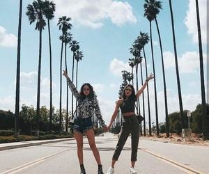 fashion, girl, and palms image