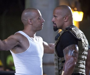 Vin Diesel, Dwayne Johnson, and the rock image