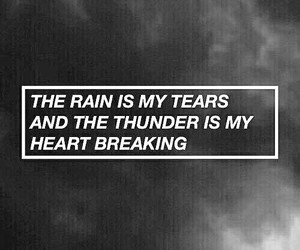 quotes, rain, and sad image