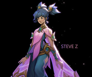 anime, pink, and league of legends image