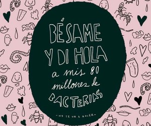 love, kiss, and bacterias image
