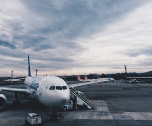 airplane, beauty, and landscape image