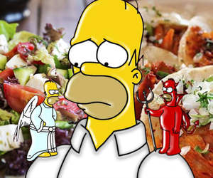 food and homer simpson image