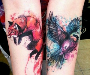 tattoo, bird, and art image