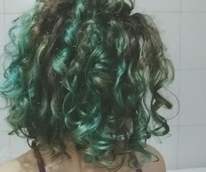 color, curly, and green image