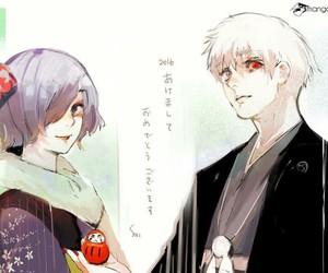 touka, tokyo ghoul, and ken kaneki image