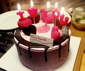 birthdaycake, cake, and candle image