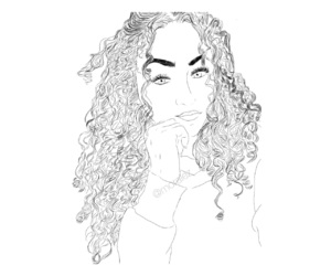 curly, drama, and paint image