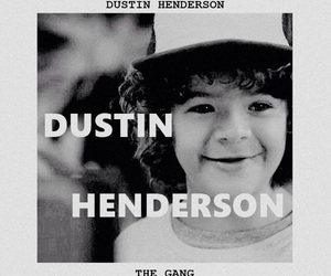 the gang, stranger things, and dustin henderson image