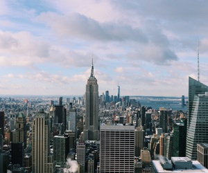 cities, empire state building, and manhattan image