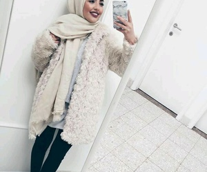 hijab, fashion, and makeup image