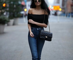 black top, blogger, and booties image
