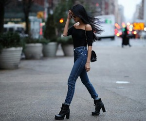 black, chanel, and guess image