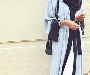 blue, hijab, and abaya image
