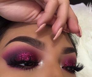 eyeliner, nail+art, and makeup goals image