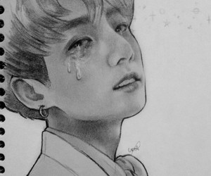 cry, deviantart, and kpop image