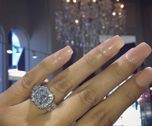 chic, rings, and diamond image