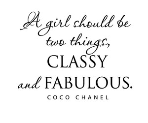 quote, classy, and coco chanel image