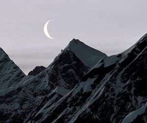 mountains and moon image