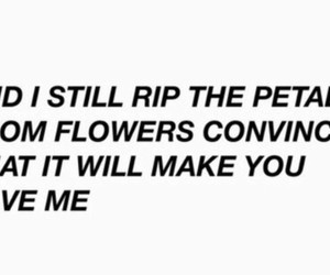 flowers, he loves me, and petals image