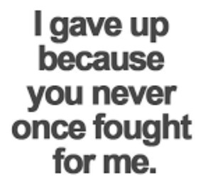 fight, you, and gave up image