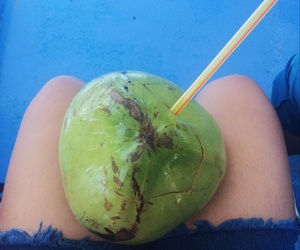 aesthetic, chill, and coconut image