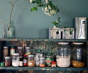 bohemian, decor, and kitchen image