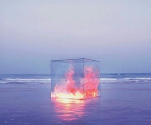 fire, cube, and water image