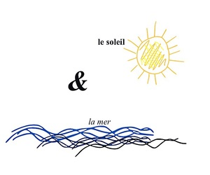 drawing, french, and sea image