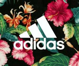 adidas, flowers, and jungle image