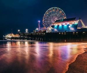 beach, ferris wheel, and festival image