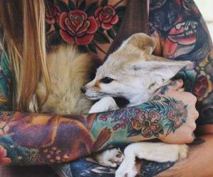 tattoo, animal, and fox image