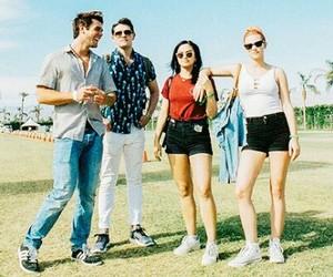 coachella, music festival, and sunglasses image