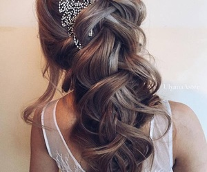 beauty, braid, and bridal image