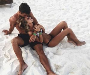 beach, boy, and girl image