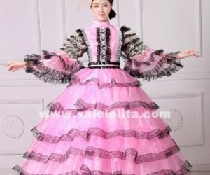 marie antoinette dress, masquerade ball gown, and masquerade dress image