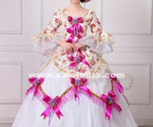 marie antoinette dress, southern bell dress, and renaissance dress image