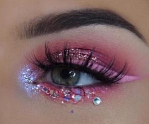 beauty, makeup, and unicorn image