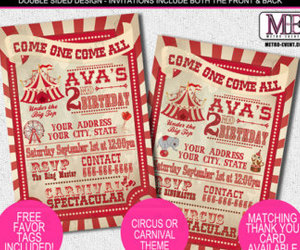 carnival, birthday invitations, and circus party image