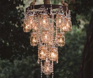 light, chandelier, and diy image