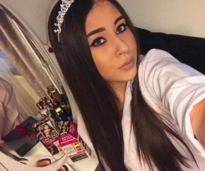 brunette, crown, and girl image