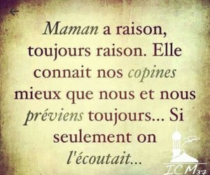 maman, toujours, and raison image