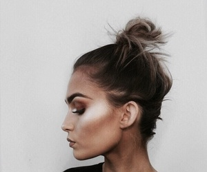 hairstyle, makeup, and fashion image