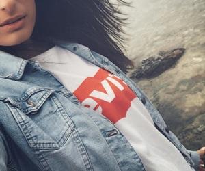 beach, jacket, and denim image