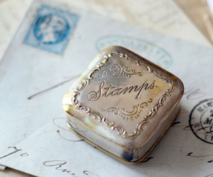 letters, retro, and stamps image